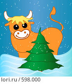 Новогодняя открытка 2009. Стоковая иллюстрация, иллюстратор Алина Анохина / Фотобанк Лори