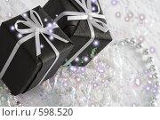 Купить «Подарочные черные коробки с белыми бантами», фото № 598520, снято 2 декабря 2008 г. (c) Лисовская Наталья / Фотобанк Лори