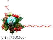 Купить «Новогодняя рамка», фото № 600656, снято 5 декабря 2008 г. (c) Ольга Красавина / Фотобанк Лори