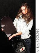 Девушка и сноуборд (2007 год). Редакционное фото, фотограф pshek / Фотобанк Лори