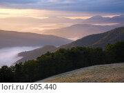 Купить «Утро в горах», фото № 605440, снято 28 сентября 2008 г. (c) Юрий Брыкайло / Фотобанк Лори