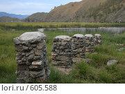 Байкал, Малое море. Столбы из камней. Стоковое фото, фотограф Дарья Киселева / Фотобанк Лори