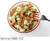 Купить «Салат из макарон», фото № 606112, снято 30 ноября 2008 г. (c) Tatiana / Фотобанк Лори