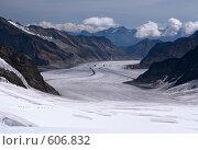 Купить «Алечский ледник. Юнгфрау. Швейцария.», фото № 606832, снято 29 августа 2008 г. (c) Марченко Дмитрий / Фотобанк Лори