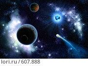 Купить «Солнечная система с двумя планетами», иллюстрация № 607888 (c) Попов Максим / Фотобанк Лори