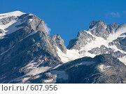 Купить «Высокогорный перевал, Западный Кавказ», фото № 607956, снято 7 августа 2008 г. (c) Vladimir Fedoroff / Фотобанк Лори