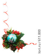 Купить «Новогодняя рамка», фото № 611800, снято 5 декабря 2008 г. (c) Ольга Красавина / Фотобанк Лори