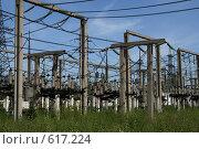 Купить «Трансформаторная подстанция Северной ТЭЦ-21. Санкт-Петербург», фото № 617224, снято 21 мая 2007 г. (c) Александр Секретарев / Фотобанк Лори