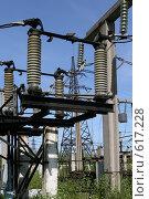 Купить «Трансформаторная подстанция Северной ТЭЦ-21. Санкт-Петербург», фото № 617228, снято 21 мая 2007 г. (c) Александр Секретарев / Фотобанк Лори