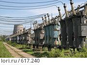 Купить «Трансформаторная подстанция Северной ТЭЦ-21. Санкт-Петербург», фото № 617240, снято 21 мая 2007 г. (c) Александр Секретарев / Фотобанк Лори