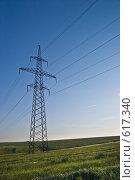Линия электропередачи. Стоковое фото, фотограф Сергей Горохов / Фотобанк Лори