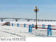 Купить «Саратов: Волга под льдом», фото № 619072, снято 10 марта 2007 г. (c) Сергей Яковлев / Фотобанк Лори