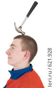 Купить «Падающий на голову рабочему молоток», фото № 621928, снято 30 ноября 2008 г. (c) pzAxe / Фотобанк Лори