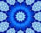 Синяя снежинка, иллюстрация № 622176 (c) Parmenov Pavel / Фотобанк Лори