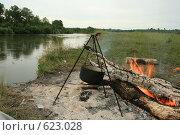 Река, простор, костер. Стоковое фото, фотограф Стародубов Юрий / Фотобанк Лори