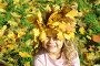 Девочка - осень, фото № 623092, снято 3 октября 2008 г. (c) Юлия Шилова / Фотобанк Лори