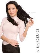 Купить «Красивая девушка», фото № 623452, снято 13 декабря 2008 г. (c) Валентин Мосичев / Фотобанк Лори