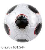 Купить «Футбольный мяч на белом фоне», фото № 631544, снято 18 июня 2008 г. (c) Андрей Армягов / Фотобанк Лори