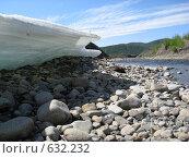 Купить «Наледь на реке», фото № 632232, снято 13 июня 2008 г. (c) Афанасьев Юрий / Фотобанк Лори