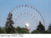 Купить «Колесо обозрения», фото № 637752, снято 7 сентября 2008 г. (c) Estet / Фотобанк Лори