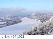 Зимний пейзаж на Волге. Стоковое фото, фотограф Абудеев Дмитрий / Фотобанк Лори