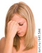 Купить «Очень расстроенная девушка», фото № 641544, снято 18 декабря 2008 г. (c) Гладских Татьяна / Фотобанк Лори