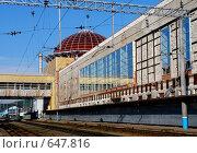 Купить «Уфа. Железнодорожный вокзал», фото № 647816, снято 7 июля 2008 г. (c) Александр Тараканов / Фотобанк Лори