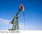 Нефтяная помпа. Стоковое фото, фотограф Кочкаева Светлана Сергеевна / Фотобанк Лори