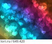 Купить «Боке в форме сердец», иллюстрация № 649420 (c) ИЛ / Фотобанк Лори