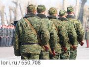 Купить «Солдаты  в  строю», фото № 650708, снято 9 мая 2007 г. (c) Николай Гернет / Фотобанк Лори
