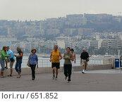 Утренний променад в Ницце (2006 год). Редакционное фото, фотограф Татьяна Степанова / Фотобанк Лори