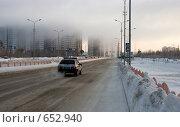 Купить «Дым над городом. Город Сургут», фото № 652940, снято 10 января 2009 г. (c) Александр Ерёмин / Фотобанк Лори