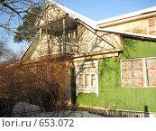 Купить «Дачный участок в деревне», фото № 653072, снято 4 января 2009 г. (c) Юлия Дашкова / Фотобанк Лори