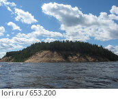 Купить «Камское водохранилище, мыс», фото № 653200, снято 22 июня 2008 г. (c) Дубинин Дмитрий / Фотобанк Лори