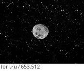 Луна и звезды. Стоковая иллюстрация, иллюстратор tyuru / Фотобанк Лори