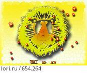 Лев. Стоковая иллюстрация, иллюстратор Игорь Олюнин / Фотобанк Лори