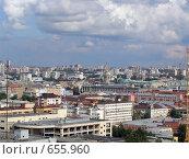 Город Екатеринбург с высоты птичьего полета (2005 год). Редакционное фото, фотограф Александр Бедо / Фотобанк Лори