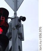 Купить «Светофор для слепых», фото № 656976, снято 9 января 2009 г. (c) Борис Горбань / Фотобанк Лори