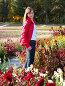 Девочка-подросток на дорожке среди цветов. Теплая осень, фото № 658988, снято 28 октября 2008 г. (c) Мирослава Безман / Фотобанк Лори