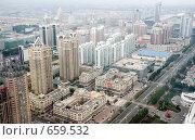 Купить «Вид сверху на Харбин, Китай», фото № 659532, снято 5 сентября 2008 г. (c) Ирина Игумнова / Фотобанк Лори