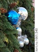Купить «Новогодние игрушки», фото № 661540, снято 21 декабря 2008 г. (c) Кирилл Федорин / Фотобанк Лори