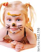 Купить «Девочка в костюме тигренка», фото № 662116, снято 5 января 2009 г. (c) Майя Крученкова / Фотобанк Лори