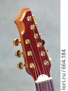 Купить «Головка грифа девятиструнной гитары», фото № 664184, снято 10 мая 2008 г. (c) Аlexander Reshetnik / Фотобанк Лори