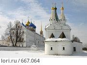 Купить «Рязань, кремль. Церковь Святого Духа (1642 г.)», фото № 667064, снято 18 февраля 2018 г. (c) Румянцева Елена / Фотобанк Лори