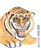 Купить «Тигр», иллюстрация № 668888 (c) Ivan Markeev / Фотобанк Лори