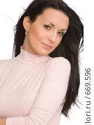 Купить «Молодая женщина», фото № 669596, снято 13 декабря 2008 г. (c) Валентин Мосичев / Фотобанк Лори