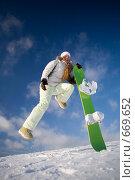 Купить «Сноубордист девушка», фото № 669652, снято 6 января 2009 г. (c) Фурсов Алексей / Фотобанк Лори