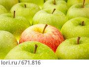 Купить «Красное яблоко среди зеленых», фото № 671816, снято 13 сентября 2008 г. (c) Raev Denis / Фотобанк Лори