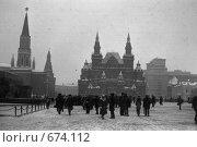 Купить «Москва, Красная площадь, 1982 год», фото № 674112, снято 5 января 1982 г. (c) Александр  Буторин / Фотобанк Лори