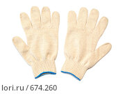 Пара рабочих перчаток. Стоковое фото, фотограф Дмитрий Крамар / Фотобанк Лори